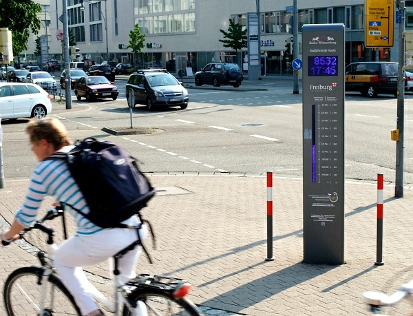 Fahrradzählanlage in Freiburg/Breisgau