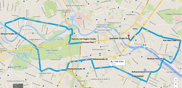 Ride of Silence Berlin: Route