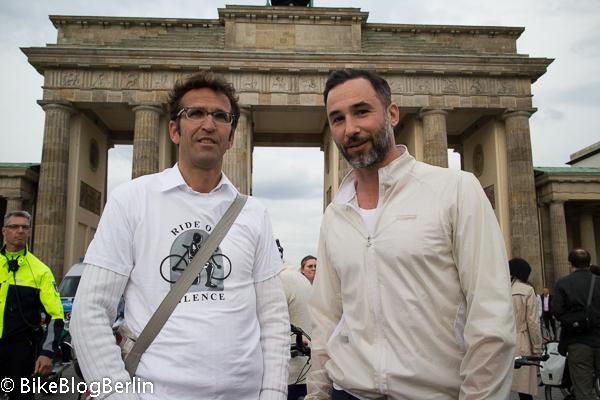 Heinrich Strößenreuther (links) mit Fares Gabriel Hadid (Berliner Fahrrad Schau)
