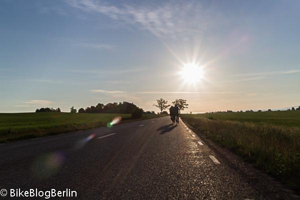 Rennradfahren in Schweden